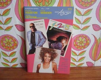 Vintage Sheet Music Superstar Series Vol. 1 Pop Whitney Houston Stevie Wonder Gloria Estefan Keyboard 80's Book Classic Songs Billboard 100