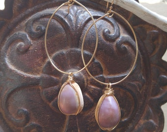 Kauri Teardrop Earrings - 14K gold filled wire