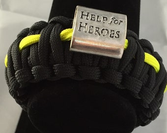 "Troops Soldiers Support Bracelet 9"" 500 Paracord survival bracelet.  This style of bracelet represents your support for our soldiers."