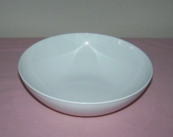Corning Centura White Serving Vegetable Salad Bowl Vintage