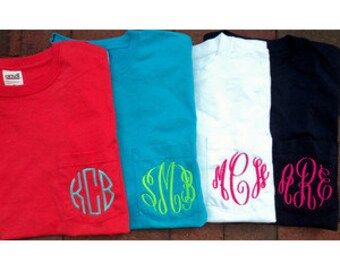 Monogrammed Pocket T-Shirt's