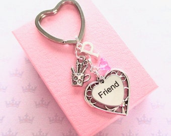 Artist keyring - Personalised gift for friend - Gift for crafters - Friend keychain - Friend Birthday - Artist keychain - Gift for Artist