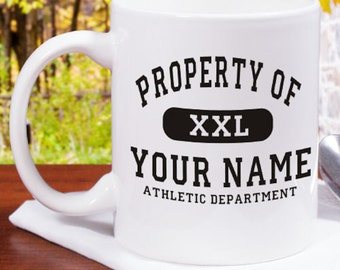 Personalized Property Of Athletic Coffee Mug