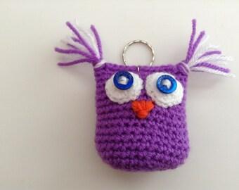 Crochet Owl Key Ring.........