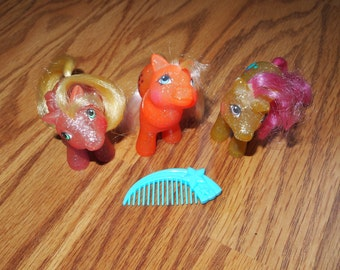 My Little Pony G1 Baby Sparkle Ponies Gusty Firefly North Star Hasbro Vintage Ponies