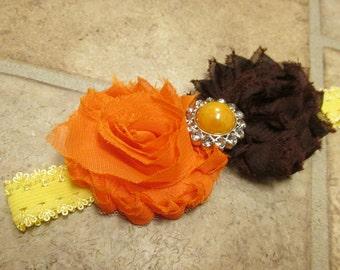 Thanksgiving Orange and Brown Headband