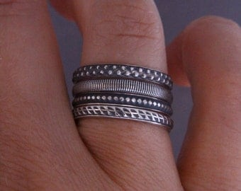 Stacking rings.Stackable rings.Stack of 4.Sterling silver stacking rings.Stacks.Band rings.Silver rings.Silver jewellery.