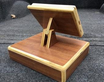 Plywood iPad stand cash register Walnut, Cherry, Maple or Oak