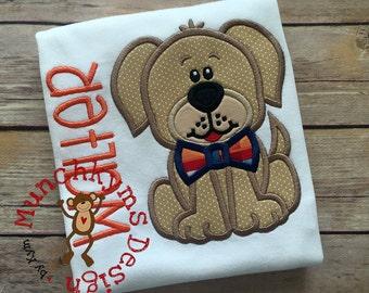 Puppy Boy Applique Design