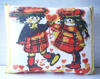Vintage Pure Linen Tea Towel Cushion Cover - Love