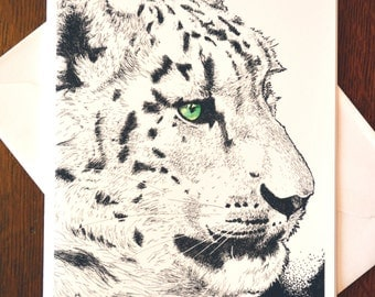 Snow Leopard Note Cards