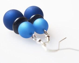 blue earrings polaris african glass earrings