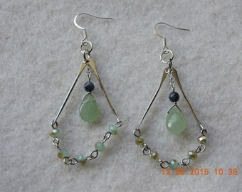 Beaded Earrings-Multi-Colored Earrings-Silver -Gift for Her-French Hook Earrings- Boho Earrings