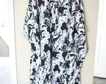 vintage oriental black tunic caftan dress