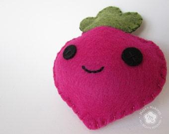 Radish Plush - Kawaii Radish - Veggie Stuffed Animal - Pretend Play Radish Toy