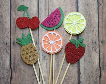 Tutti Frutti Cupcake Toppers