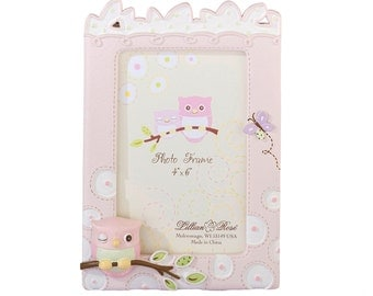 Baby Pink Owl Picture Frame-LR