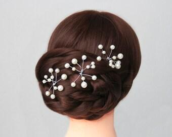 3 Pearl Hair pins