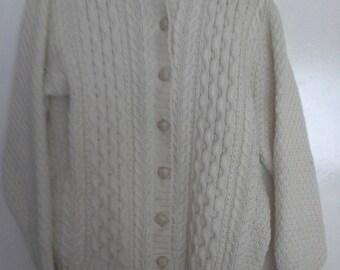 aran hand knitted cardigan