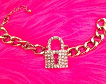 LOCKET BLING CHAIN Bracelet