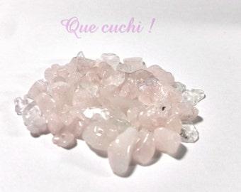 Lot 70 Pearl Rose Quartz stone chips