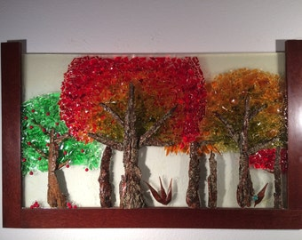 Autumn Trees Glass Mosaic