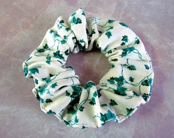 Green Ivy Handmade Hair Scrunchie 100% cotton