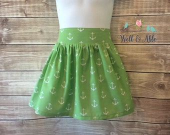 Green anchor skirt