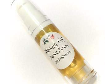Anti-Aging BEAUTY OIL - Natural Treatment Serum with Argan Oil, Carrot Seed Oil, Avocado Oil, Cranberry Oil, Essential oils