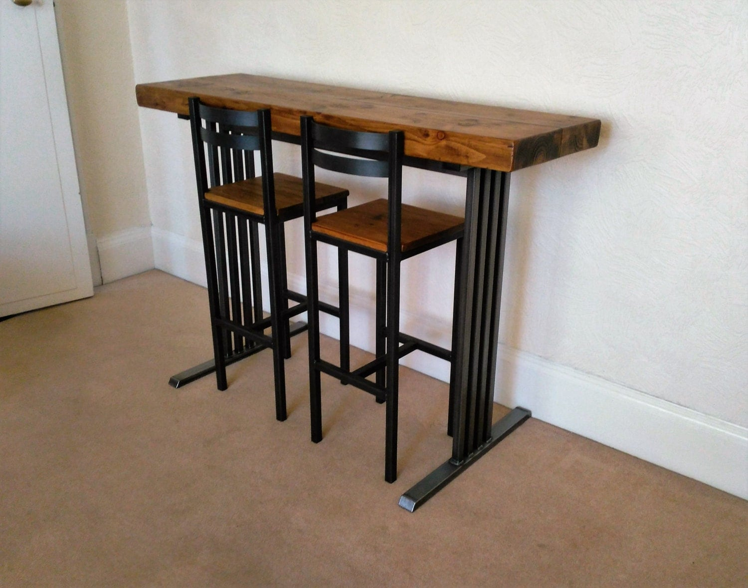 Breakfast Bar Amp 2 Bar Stools Art Deco Style By