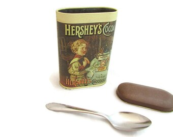 1984 Hersheys Cocoa Tin - Bittersweet Chocolate - Made in England