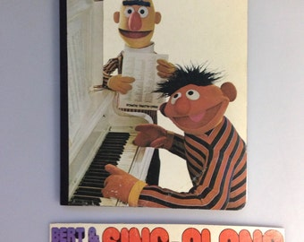 """Recycled Record Album Cover Notebook / Journal / """"Burt & Ernie Sing Along"""""""