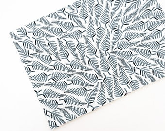 Art print stamped ferns, patterned giclee print from original design on bamboo fine art paper, certified archival, black and white modern
