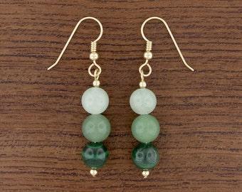 Green Ombré Earrings