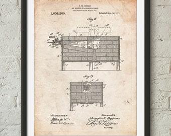 Blacksmith Forge Patent Poster, Barn Decor, Metal Work, Blacksmith Tools, Blacksmith Made, PP0742