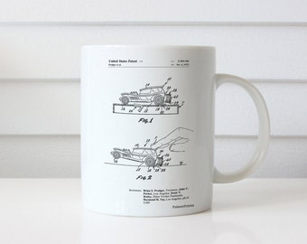 Rubber Band Toy Car Patent Mug, Vintage Toys, Boys Gifts, Play Room Decor, Boys Room Mug, PP1020