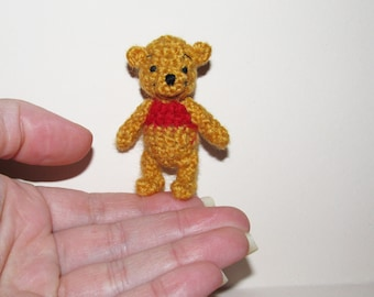 Winnie The Pooh Miniature Crochet Pooh Bear Amigurumi Collectible Disney Character Crochet Characters