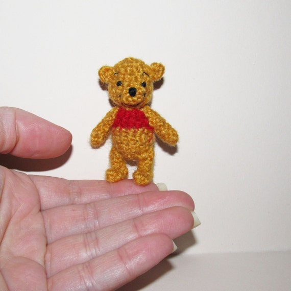 Winnie The Pooh Miniature Crochet Pooh Bear Amigurumi