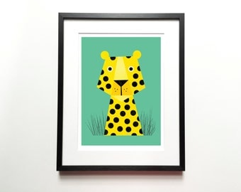 Leopard print – Cat print, Animal Illustration, Animal Print, Kids room art, Nursery room Art, Baby nursery decor, Wall art, Home decor