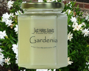 Gardenia Scented Blended Soy Candle - Spring/Floral Scent Collection - Gift Box Available - Mix & Match for Free Shipping on Orders of 6+