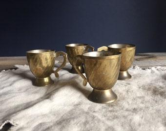 Brass Cordial Cups