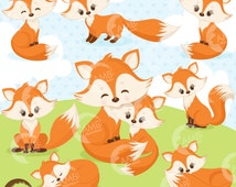 80%OFF Fox clip art, Cute fox clipart, Fox love clipart, mother and baby fox, forest creatures, forest critters, commercial use,AMB-1346