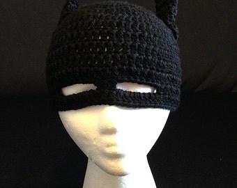 Batman crochet beanie-Toddler size