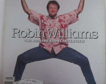 ROBIN WILLIAMS Rolling Stone Interview Feb 1988 Crazy Mork From Ork Article  Feb 1988 Hollywood & Music Magazine-Collectible Book