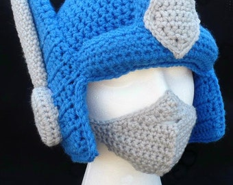 Optimus Prime Crochet Hat with Removable Adjustable Mask