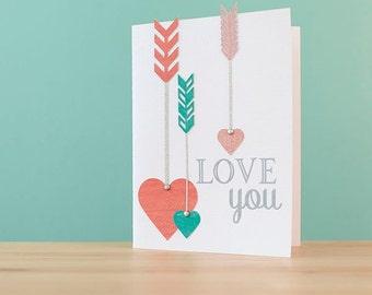 Love You Arrow Card