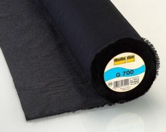 Half Metre Vlieseline® Vilene® Iron on Fusible G700 Black Pure Cotton Interfacing - Equiv. Pellon SF 101