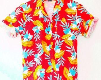 Vintage 1990s Hawaiian Short Sleeve Buttondown Shirt