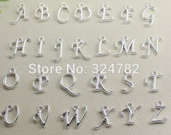 Silver Plated Alphabet Charms A to Z