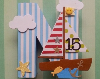Nursery letters for little boys